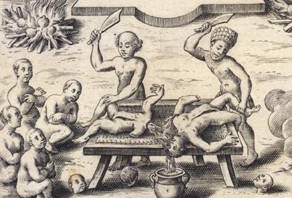 Каннибализм в древности